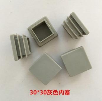 Furniture Accessories 30mm*30mm Silver Gray Square Pipe Plug Gray Internal Plug Square Plug Plastic Pipe Plug