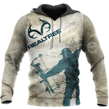 REALTREE Bow Hunter 3DPrint Zipper Hoodies Sweatshirts 1