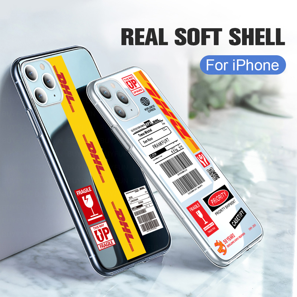 DHL Logistics Label Phone Case For Samsung S20 Ultra Note 10 plus S10 Lite A51 A71 A21 A10 <font><b>A20</b></font> A30 A50 S A01 Soft Silicon Cover image