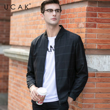 UCAK Brand Plaid Zipper Pockets Jackets Mem 2020 New Fashion Style Casual Jacket Streetwear Polyester Chaquetas Hombre U8055