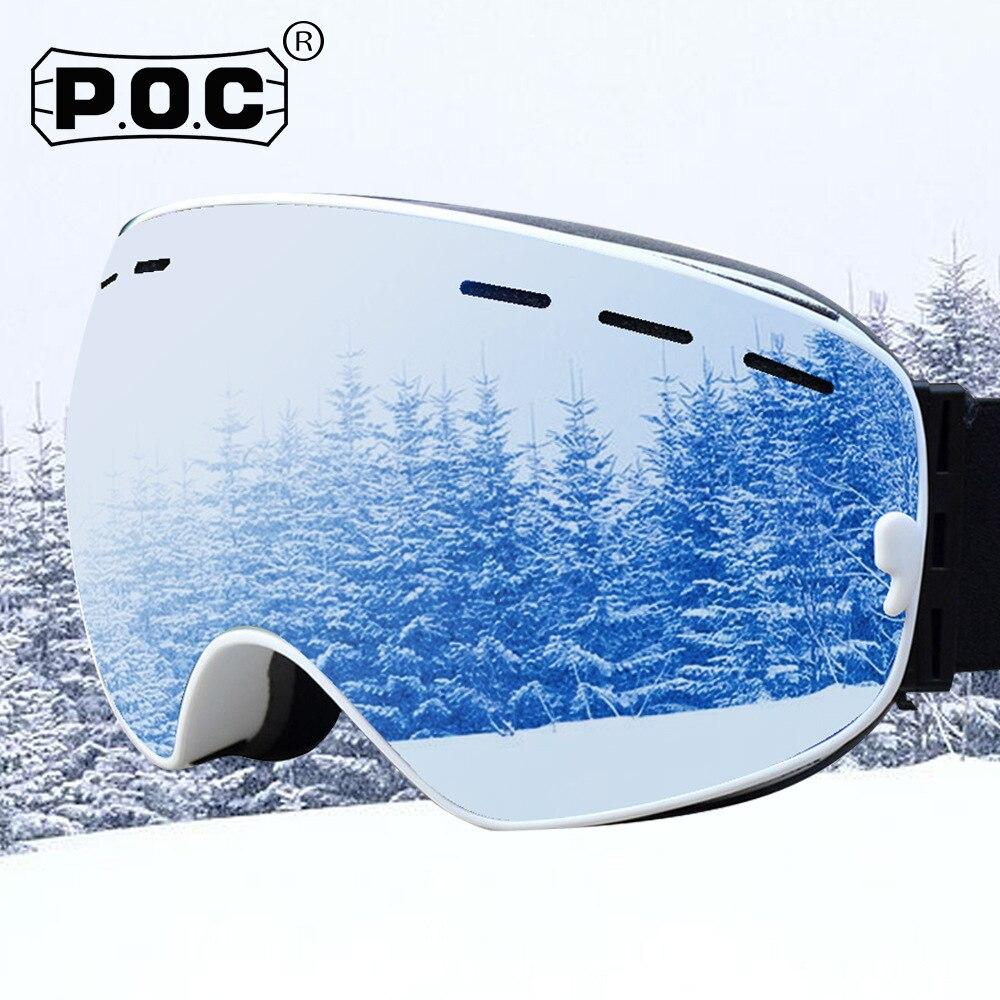 Новейшие лыжные очки POC, двухслойные незапотевающие лыжные очки для мужчин и женщин, UV400, очки для сноуборда, очки для снегохода, Google