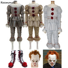 Film Stephen King's It Pennywise Cosplay Costumes masque Pennywise Clown effrayant Joker Costume ensemble déguisement d'halloween adulte(China)
