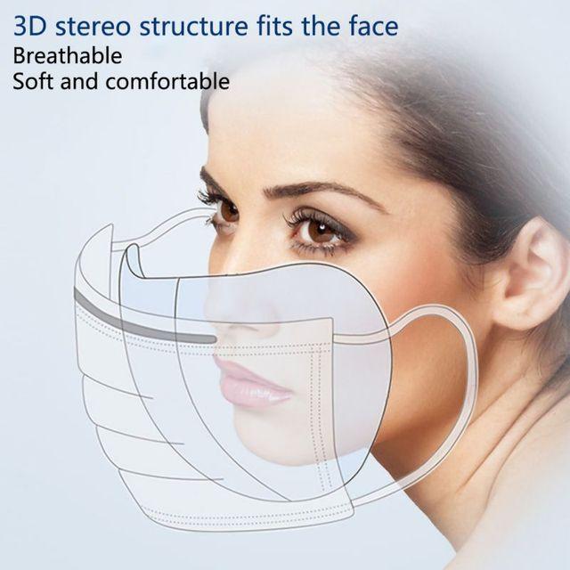 50pcs Anti-fog Mask Gasket Disposable Dust Mask Filter Anti-flu Formaldehyde Odor Bacteria Protection Mask Protection Sheet 1