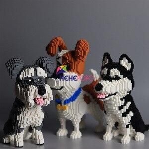 Image 5 - 2000 + pièces 16013 Mike chien blocs de construction diamant Micro petites particules orthographe jouet chien de compagnie bloc modèle jouets pour enfants cadeaux