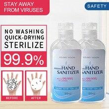 55ml Hand Sanitizer Gel Antibacterial Disinfectant Moisturizing Disposable Alcohol Hands Wash