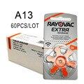 60 PCS Rayovac Extra Zink Air Hörgerät Batterien A13 13A 13 P13 PR48 Hörgerät Batterie A13 für Hörgeräte aids