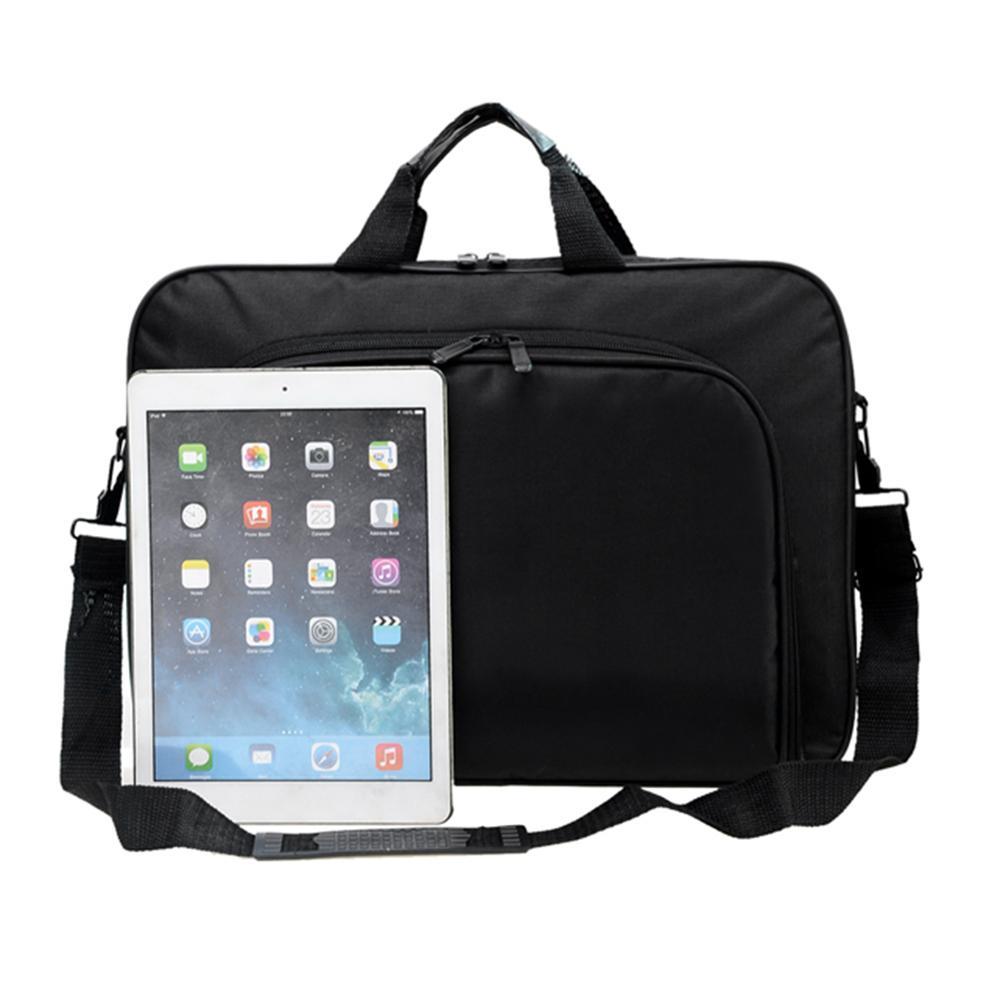 ALLOYSEED Business Laptop Bag Portable Nylon Computer Handbags Zipper Shoulder Simple Laptop Shoulder Handbag Briefcase Black