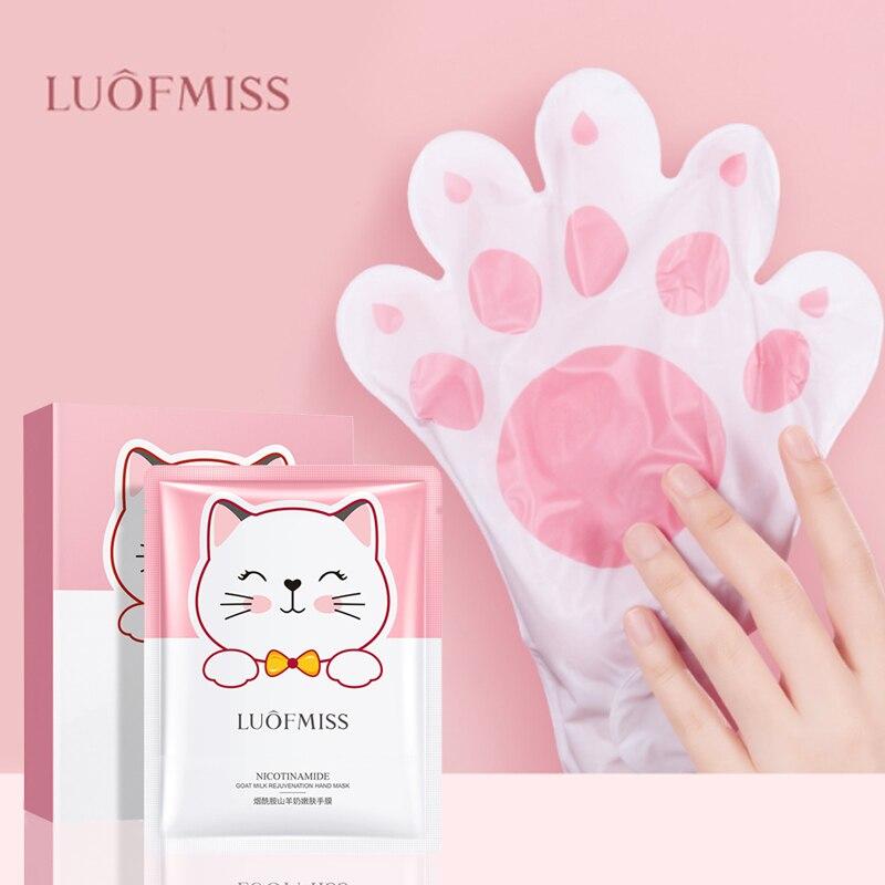 Никотинамид козье молоко омоложение кошка Маски для рук увлажняющий отбеливающий крем для лица повреждала нежную кожу забота, отшелушивание мозолей ремонт кутикулы| |   | АлиЭкспресс