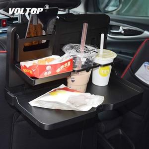 Image 1 - Universal Auto Tasse Halter Organizer Auto Vordersitz Zurück Tisch Getränke Folding Cup Holder Stand Schreibtisch Schwarz Trays