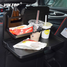 Universal Car Cup Holder Organizer Car Front Seat Back Table Drinks Folding Cup Holder Stand Desk Black Trays