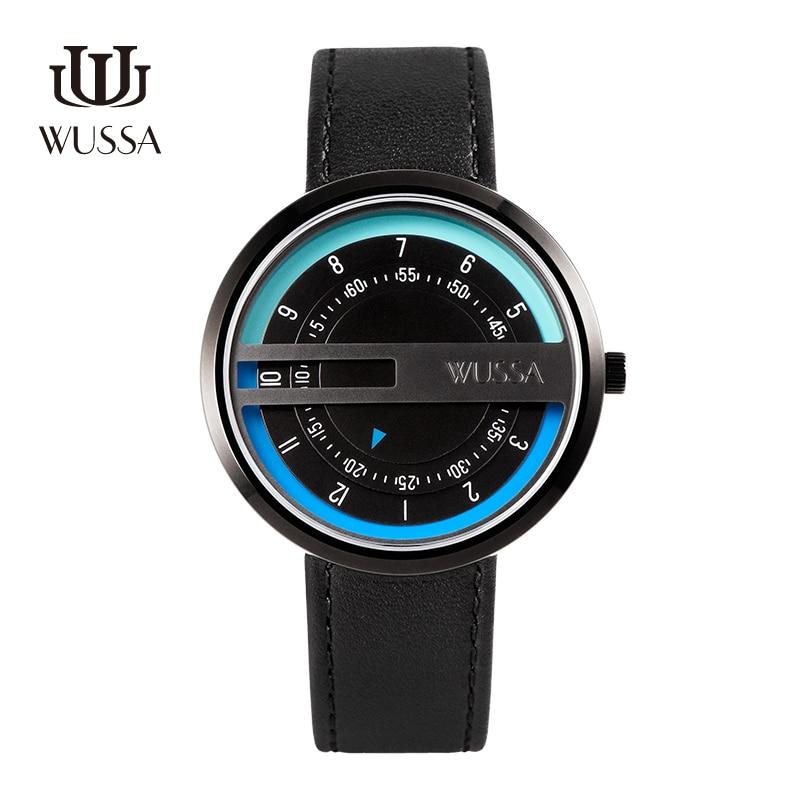 WUSSA креативные кварцевые часы унисекс