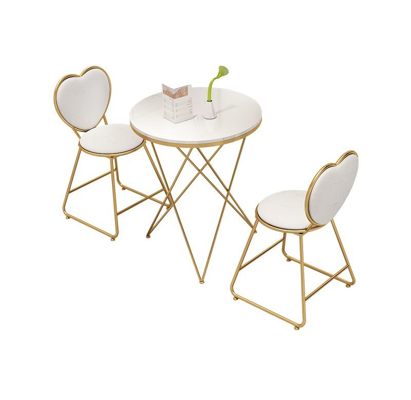 Red Shop Tables And Chairs Combination Round Table Creative Balcony Small    Manicure  Ins Tea  Dessert