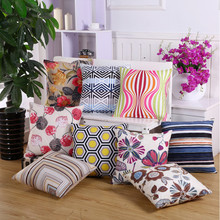 Фото - 45x45cm Geometric Pillow Cover Polyester Striped Printed Sofa Pillowcase Home Living Room Decorative Pillows Cushion Cover van gogh oil painting series decorative pillowcase gauguin chair vase bouquet forget me not print sofa cushion cover 45x45cm