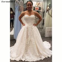 Простые кружевные свадебные платья 2020 милое платье с аппликацией