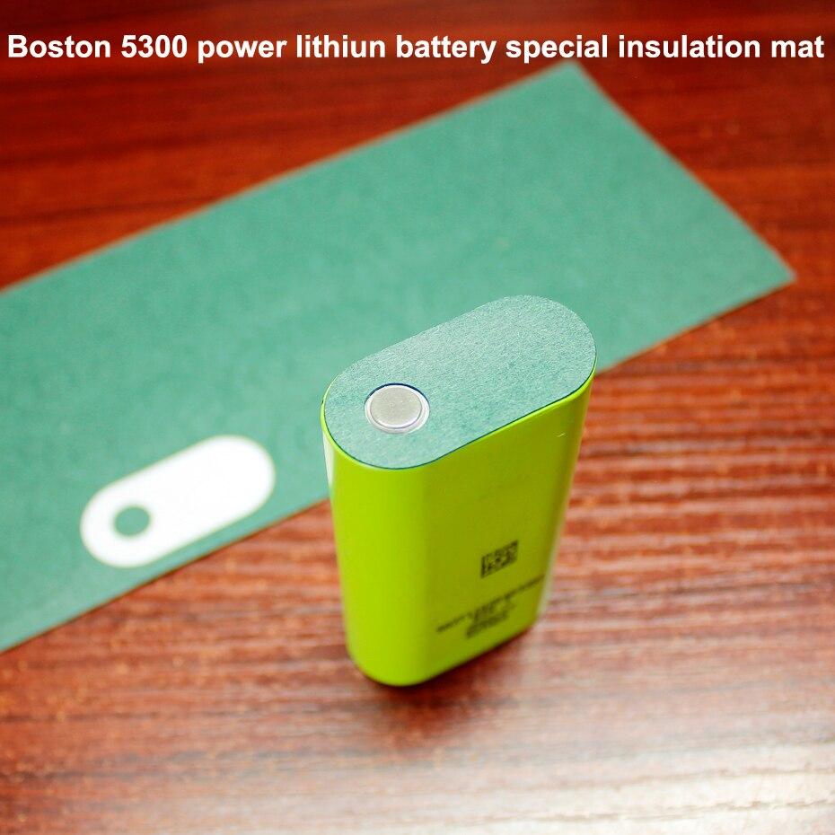 50 pçs/lote Boston 5300 bateria de lítio de energia cabeça chata especial mat isolamento meso mat isolamento mat 18650 bateria verde
