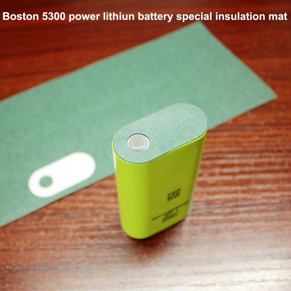 50pcs/lot Boston 5300 Power Lithium Battery Flat Head Special Insulation Mat Meso Mat 18650 Battery Green Insulation Mat