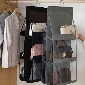 6 карманная Складная подвесная сумка держатель для хранения Органайзер вешалка, крюк