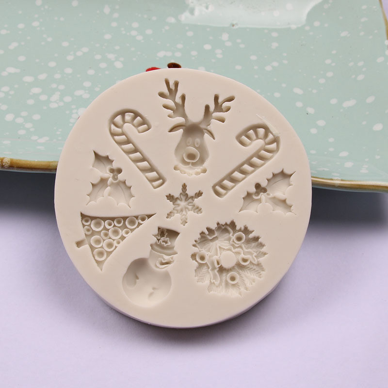 3D Christmas DIY Party Silicone Mold Chocolate Cake Mold Baking Cooking Decor Pastry Tools Baking Candy Kitchen Handmade Moulds
