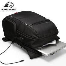 Kingsons KS3140 גברים נשים מחשב נייד תרמיל עסקי פנאי נסיעות בית ספר תיק Backpackwith USB תשלום רב פונקציה עמיד למים