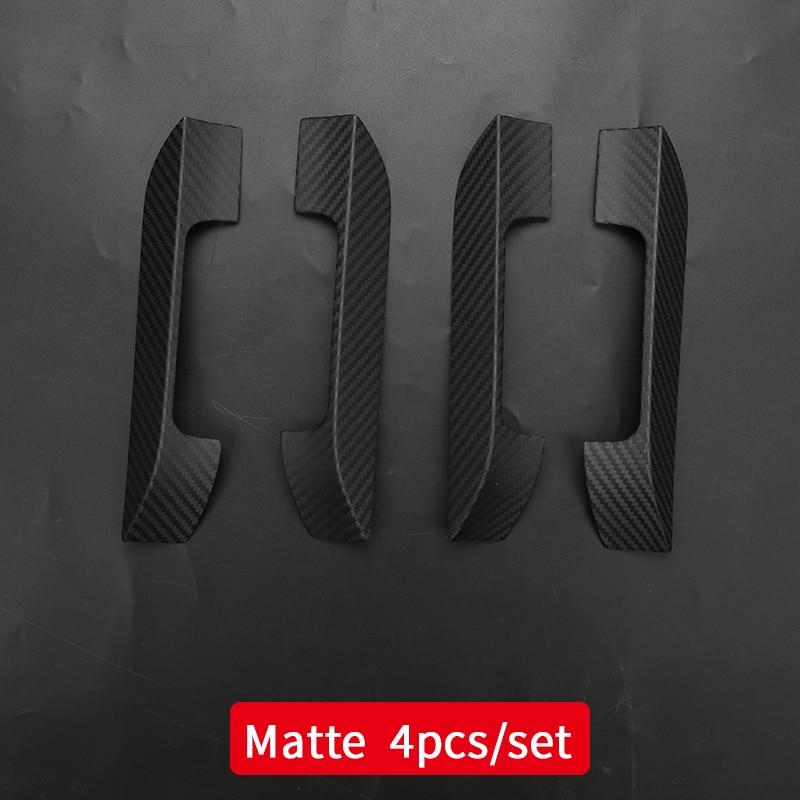 Handvat Cover Voor Auto Tesla Model S Tesla 2018 Model S Tesla Auto Accessoires Tesla Model S Carbon Fiber Exterieur - 5