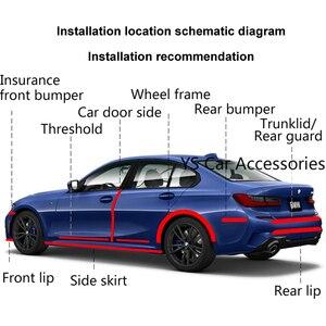 Image 4 - 1 מטר גומי דפוס רצועת גומי לרכב דלת דוושה לקצץ פגוש DIY דלת אדן מגן קצה משמר רכב סטיילינג