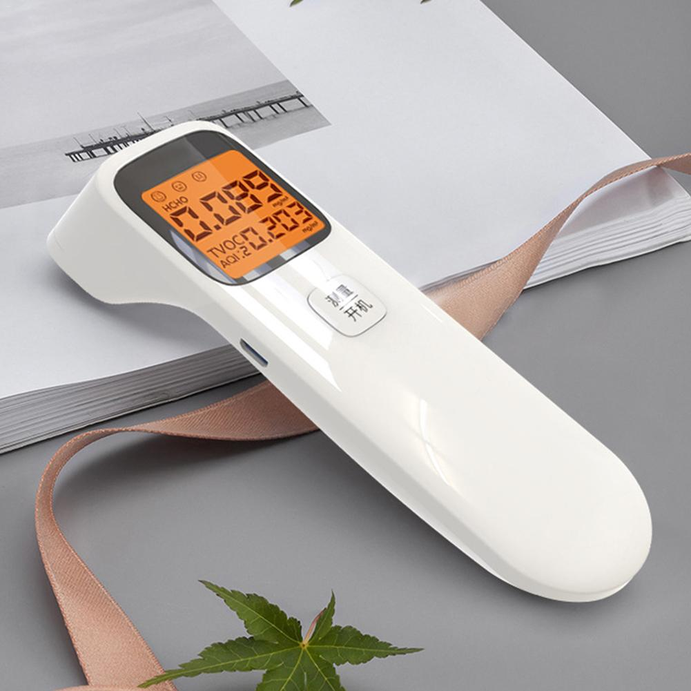 3-in-1 Portable  Air Quality Monitor Formaldehyde Detector USB Charging Intelligent Air Detector For AQI HCHO TVOC #35