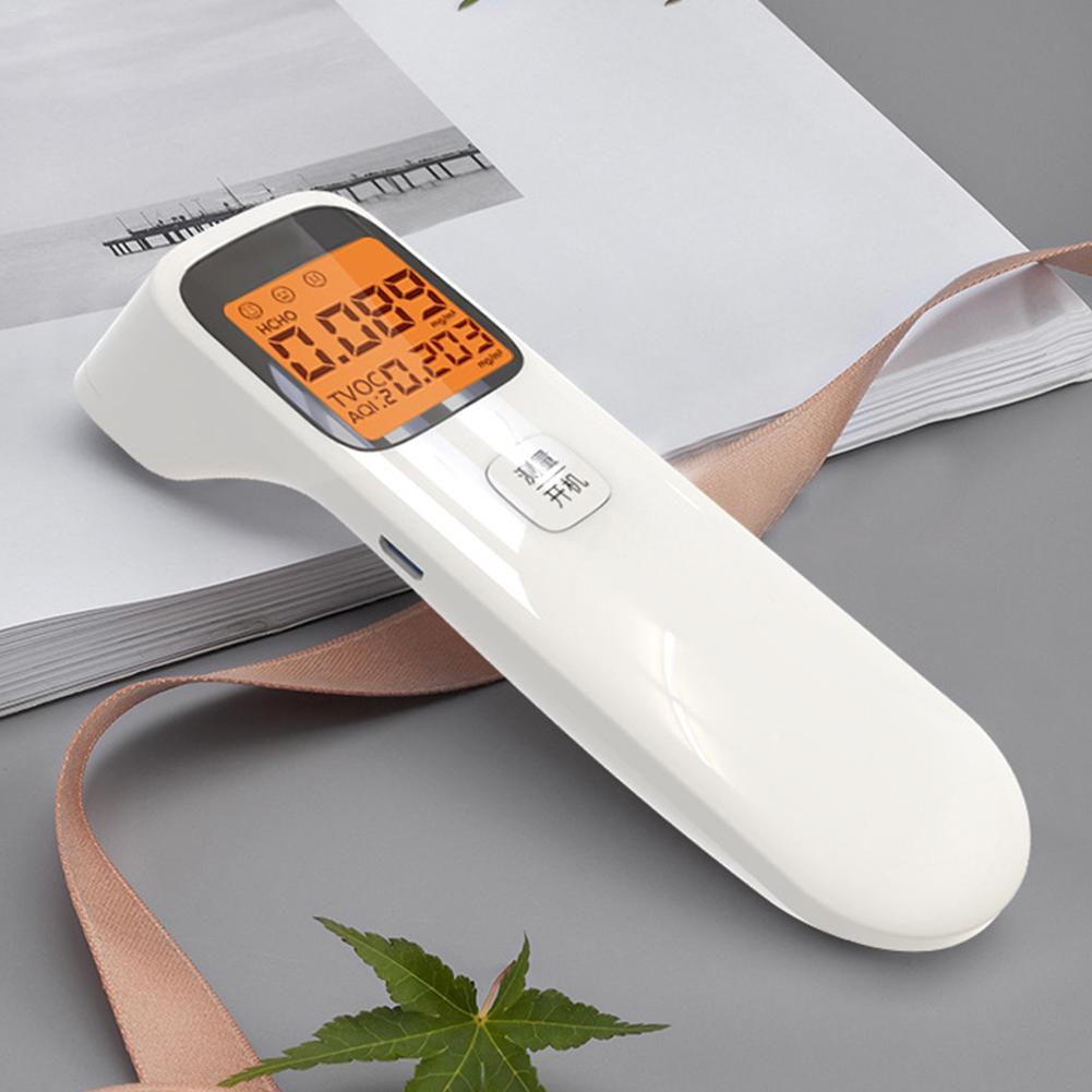 3-in-1 Portable  Air Quality Monitor Formaldehyde Detector USB Charging Intelligent Air Detector For AQI HCHO TVOC #35