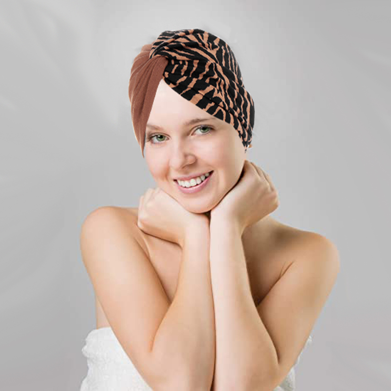 Cost Wholesale Price Twist Knot Muslim Women Stretch Cotton Striped Floral Turban Beanies Hat Head Wrap Caps Headwear Hair Cover