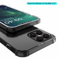 Per Apple iphone 12 Pro Max custodia morbida TPU airbag trasparente custodia protettiva antiurto per Cover posteriore per iphone 12 12pro 12Mini