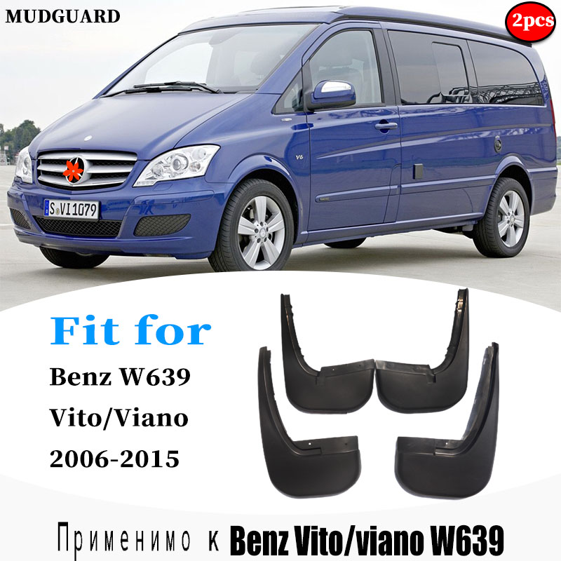 FOR Mercedes Benz Viano Vito W639 Mudguard Fenders Mud Flap Guard Splash Mudguards Fender Mudflaps car accessories auto styline image