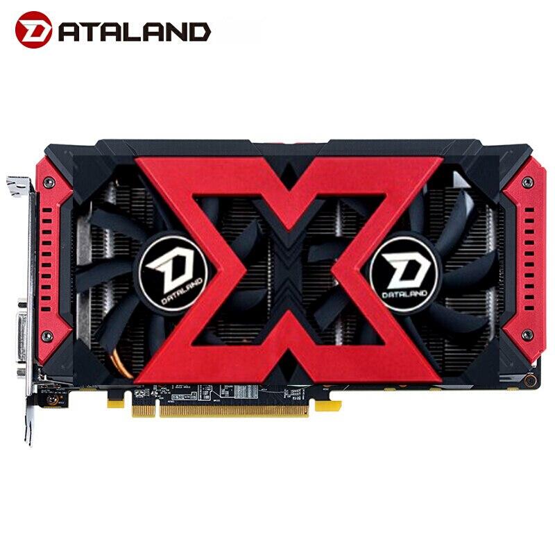 Dataland x-serial placa gráfica rx580 4g para amd gddr5 256bit pci desktop gaming rx580 placa de vídeo para pc