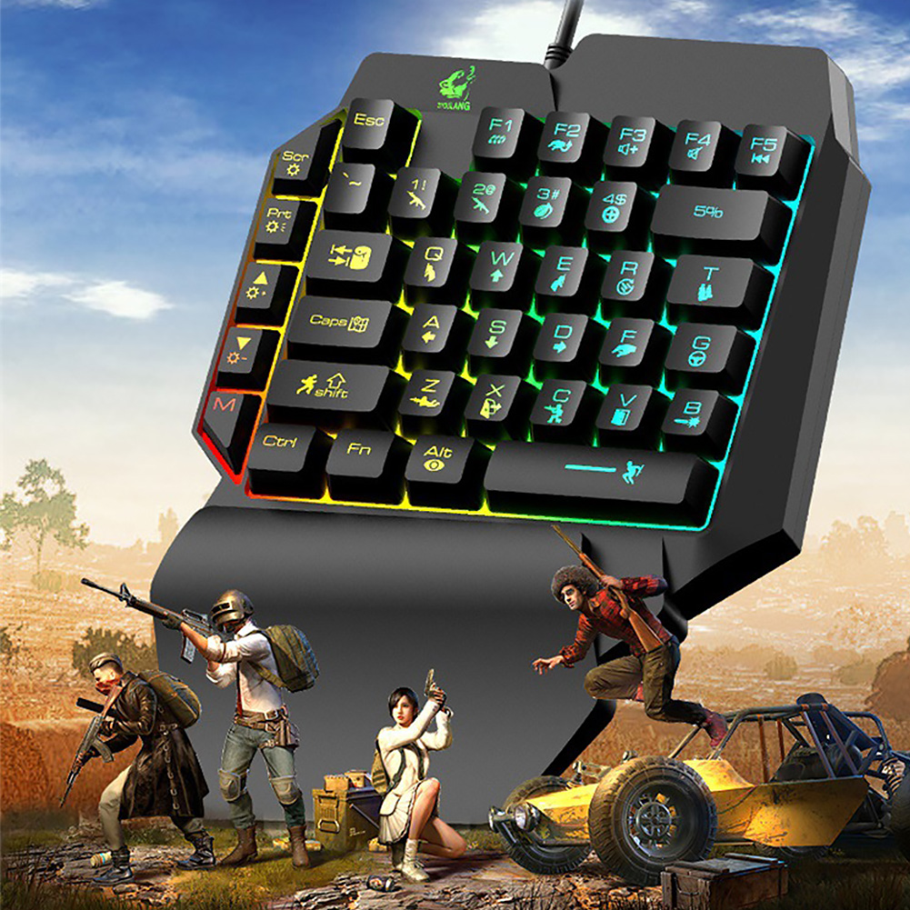 Image 3 - One handed Ergonomic Universal Laptops Wired USB Gaming LED Backlight Home 39 Keys Office Mobile Phone Keypad KeyboardKeyboards   - AliExpress
