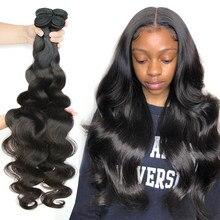 30 32 34 36 38 40 Polegada pacotes de onda do corpo cabelo brasileiro tecer pacotes 1/3/4 pçs hoho 100% feixes de cabelo humano remy extensões do cabelo