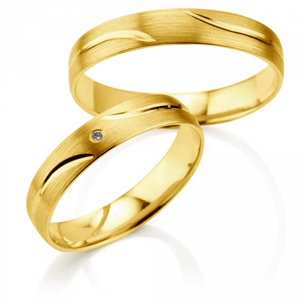 his and hers wedding bands  Gold plating layer Pure Titanium Handmade Promise Lover Rings