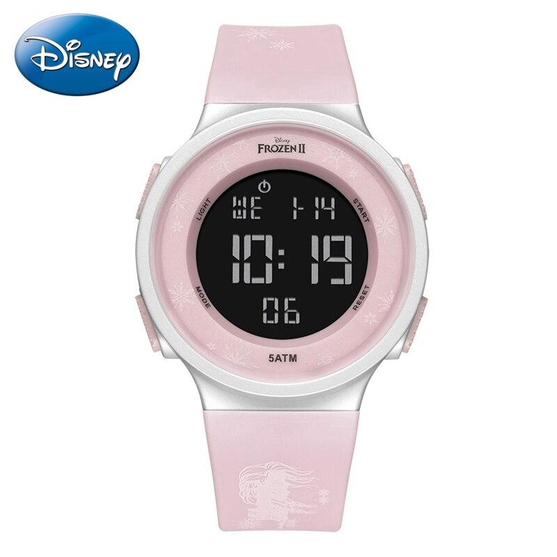 2020 Frozen Ⅱ Children Digital Calendar Watches Kids Soft Rubber 5ATM Waterproof Watches Girl Sport Time Clock Student Baby Gift