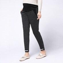Autumn&Winter Maternity Pregnant Pants Clothes Women High Waist Adjustable Belt  Pregnancy Trousers