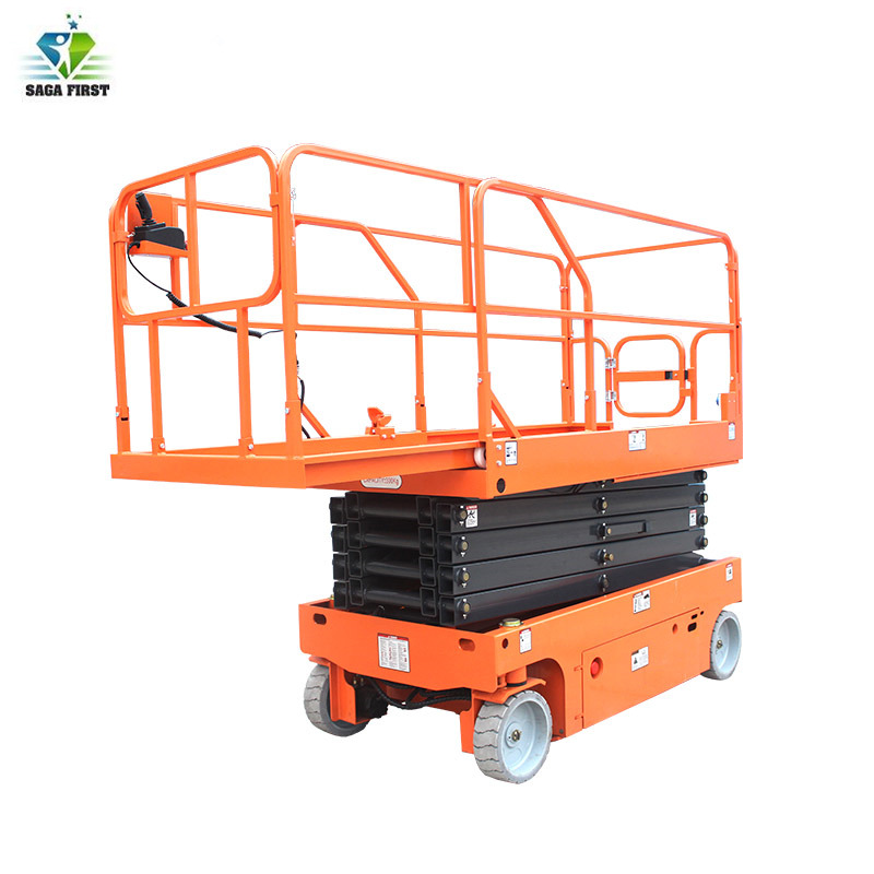 6m 8m 10m Full Electric Scissors Lift Platform Mobile Scissor Aerial Work Platform
