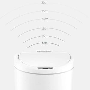 Image 3 - Youpin NINESTARS Smart Cestino Sensore di Movimento Auto di Tenuta di Induzione del LED Copertura Spazzatura 10L Mi Casa Ashcan Bidoni