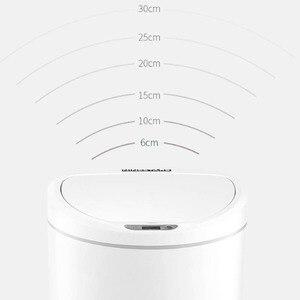 Image 3 - Youpin NINESTARS cubo de basura inteligente Sensor de movimiento Auto sellado LED inducción cubierta basura 10L Mi casa Ashcan Bins