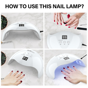 Image 4 - DIOZO SUN X9plus 48W LED Nail Lamp Dryer Manicure Curing Lamp With 30s 60s 99s Timer With Anti UV Gloves Gift