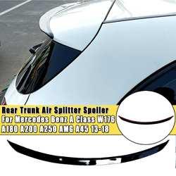 Alerón del divisor de aire pintado brillante del maletero trasero para Mercedes para Benz Clase A W176 A180 A200 A250 para AMG A45 2013 2014 2015-2018