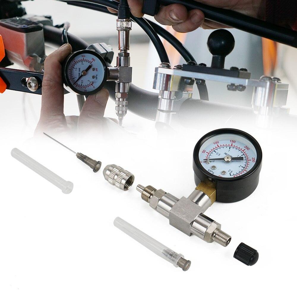 Suspension Shock Stikstof Naald Vullen Tool Gauge Rvs 350PSI Voor Yamaha YZX Voor Polaris RZR's Voor Arctic Cat vos