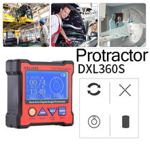 DXL360S Professional Dual-axis Digital Display Level Gauge Dual Axis Digital Angle Protractor with 5 Side Magnetic Base