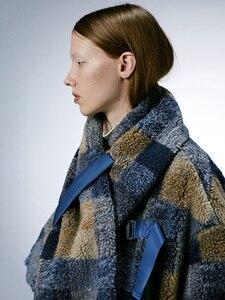 Image 4 - IRINACH112 2020 Winter New Collection oversize plaid berber fleece wool coat