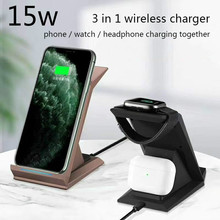 3in1 Qi Charger 15W Fast Wireless Charger