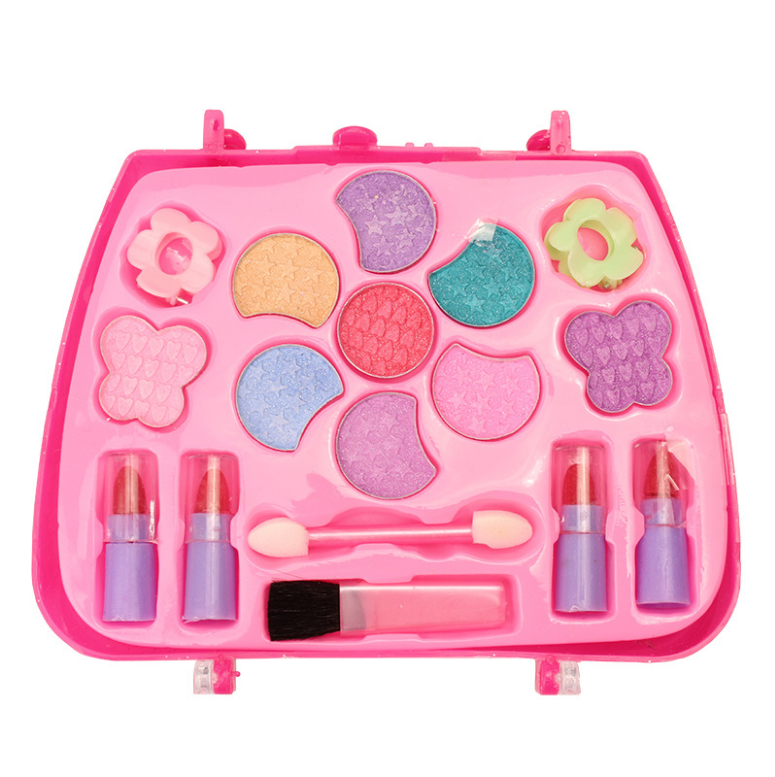 Baby Girls Make Up Set Toys Pretend Play Cosmetic Toys Play House Cosmetics Water-soluble Eye Shadow