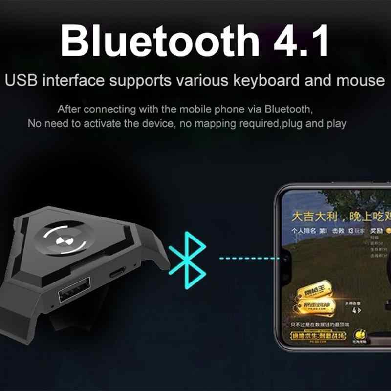 وحدة تحكم لوحة مفاتيح الألعاب Kuulee PUBG للهواتف التي تعمل بنظام تشغيل أندرويد وios وipad وbluetooth ومحول 4.1 هدية مجانية