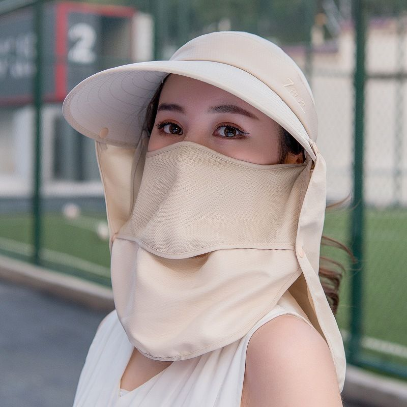 Women Sun Hat Double Layer Fishing Cap Outdoor Hiking Camping Hat Protection Face Neck Cover Sun UV Protect Cap