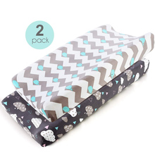 2pcs Changing Pad Cover Stretchy Changing Table Sheet for Ba