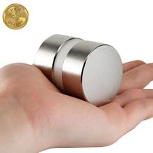 2Pcs 40Mm X 20Mm Super Potente Rotonda Contatore Dellacqua Strumento Magnete